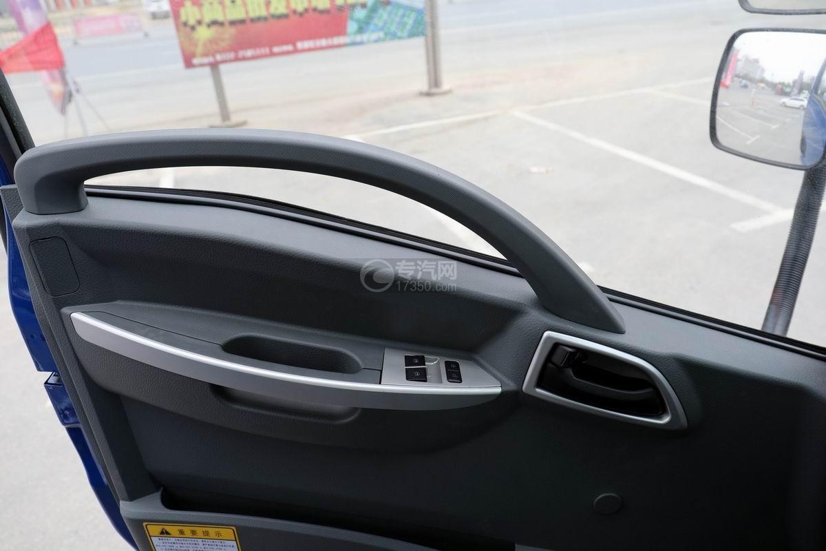 大運奧普力4.4米排半平板運輸車電動門窗