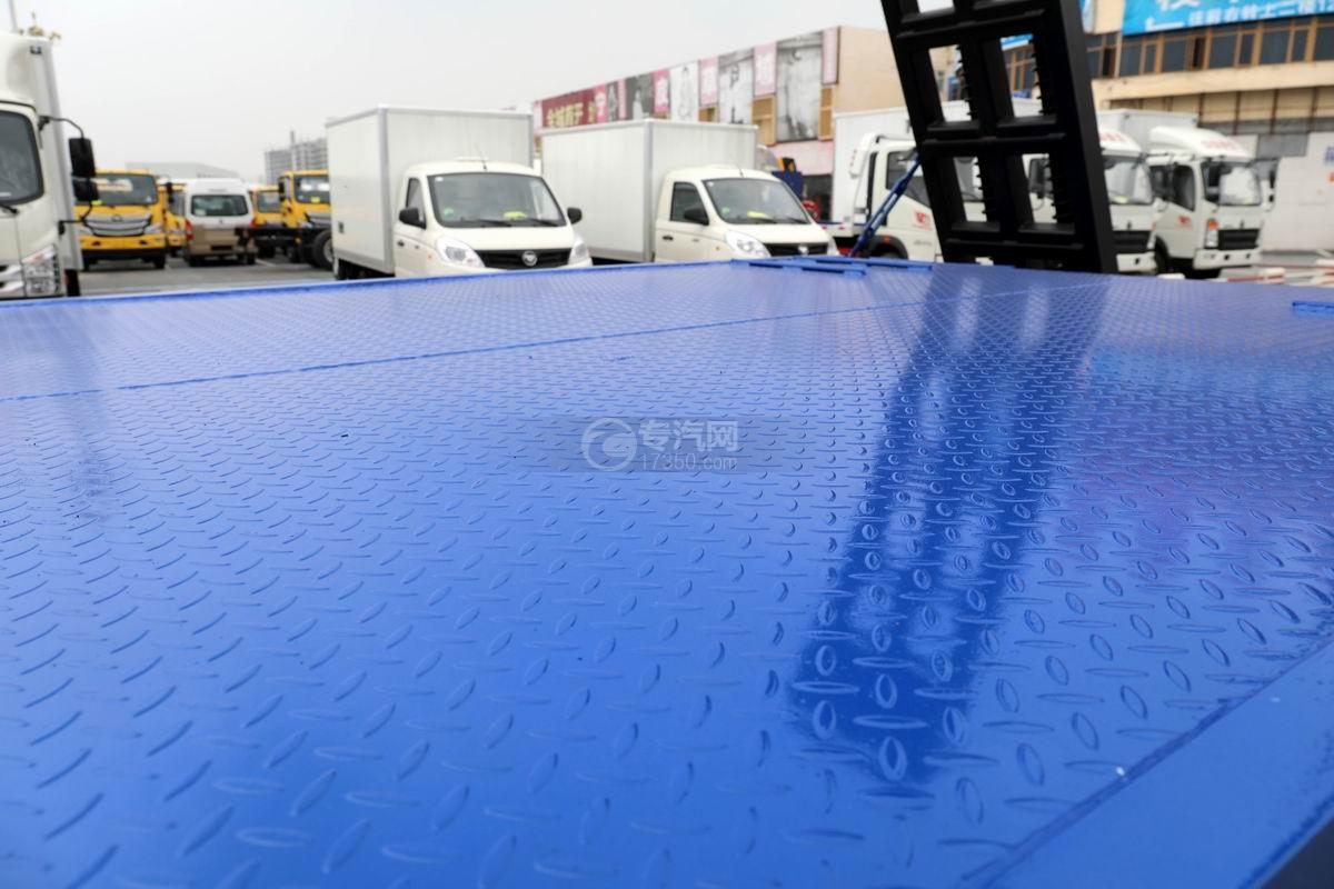 大運奧普力4.4米排半平板運輸車平板