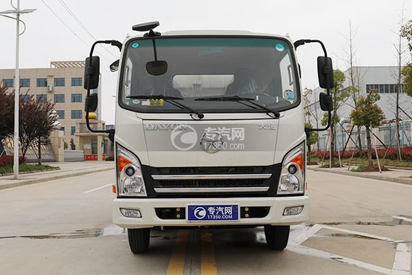 大運新奧普力國六自裝卸式垃圾車正面圖