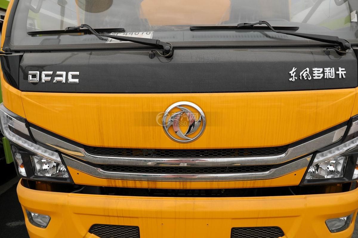 东风多利卡D7国六清洗吸污车前脸细节