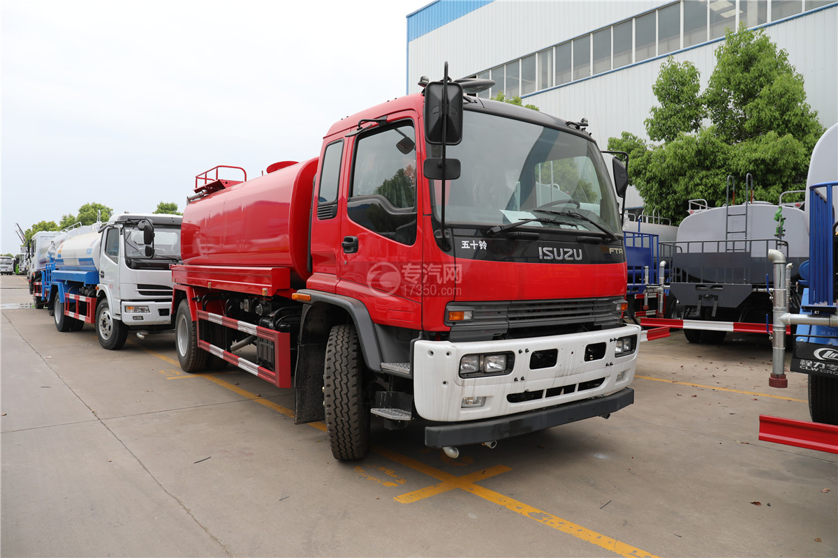 慶鈴五十鈴FTR灑水車(消防紅)