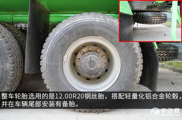陕汽德龙F3000后双桥搅拌车评测轮胎