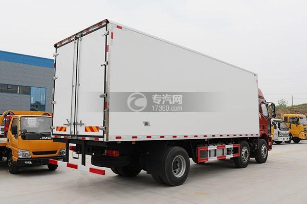 解放J6L小三轴国五8.7米冷藏车右后图