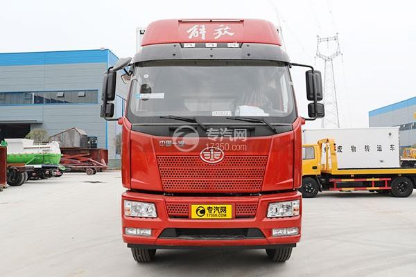 解放J6L小三轴国五8.7米冷藏车车前图