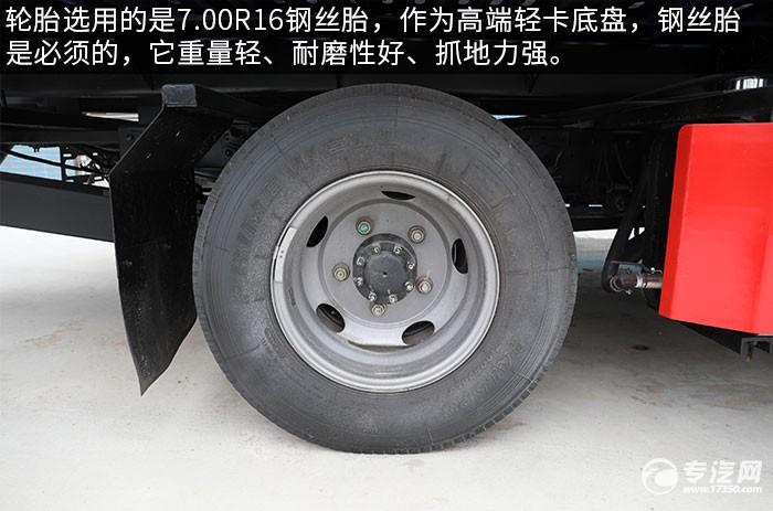 福田歐馬可S1一拖二藍牌國六清障車評測輪胎