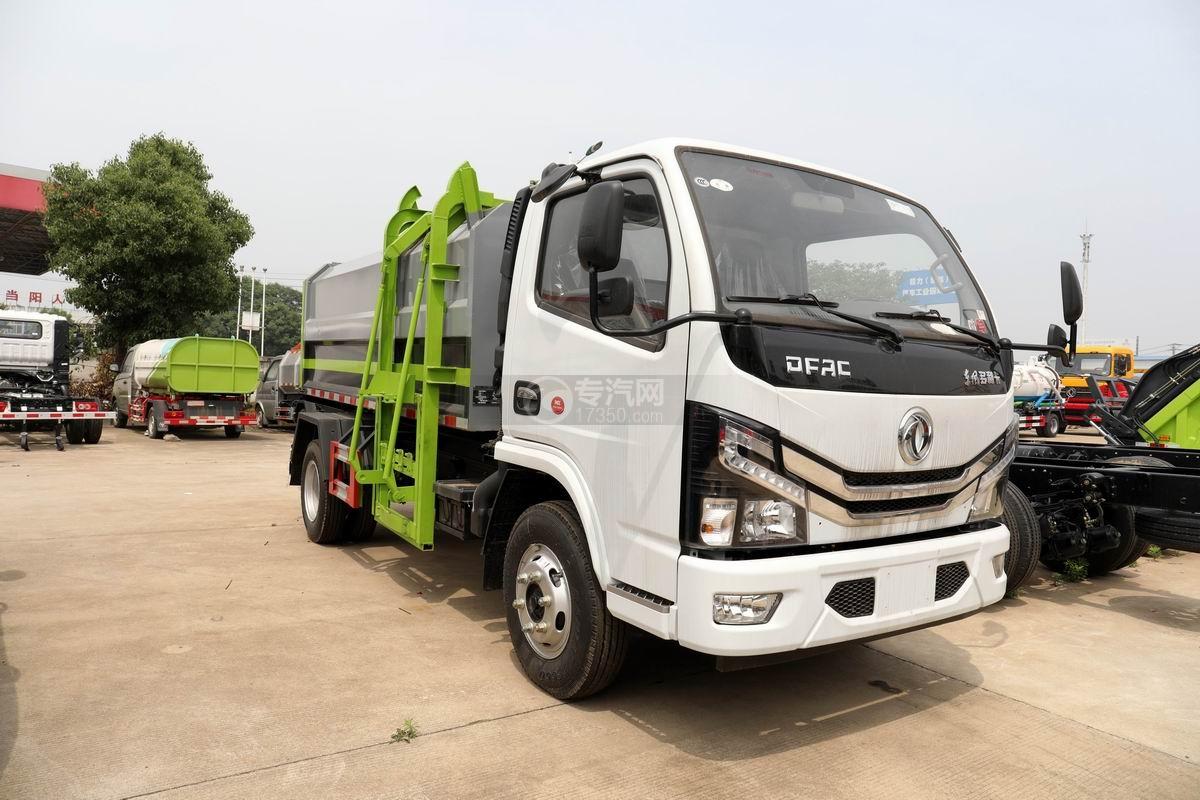 国六东风多利卡D6自装卸式垃圾车