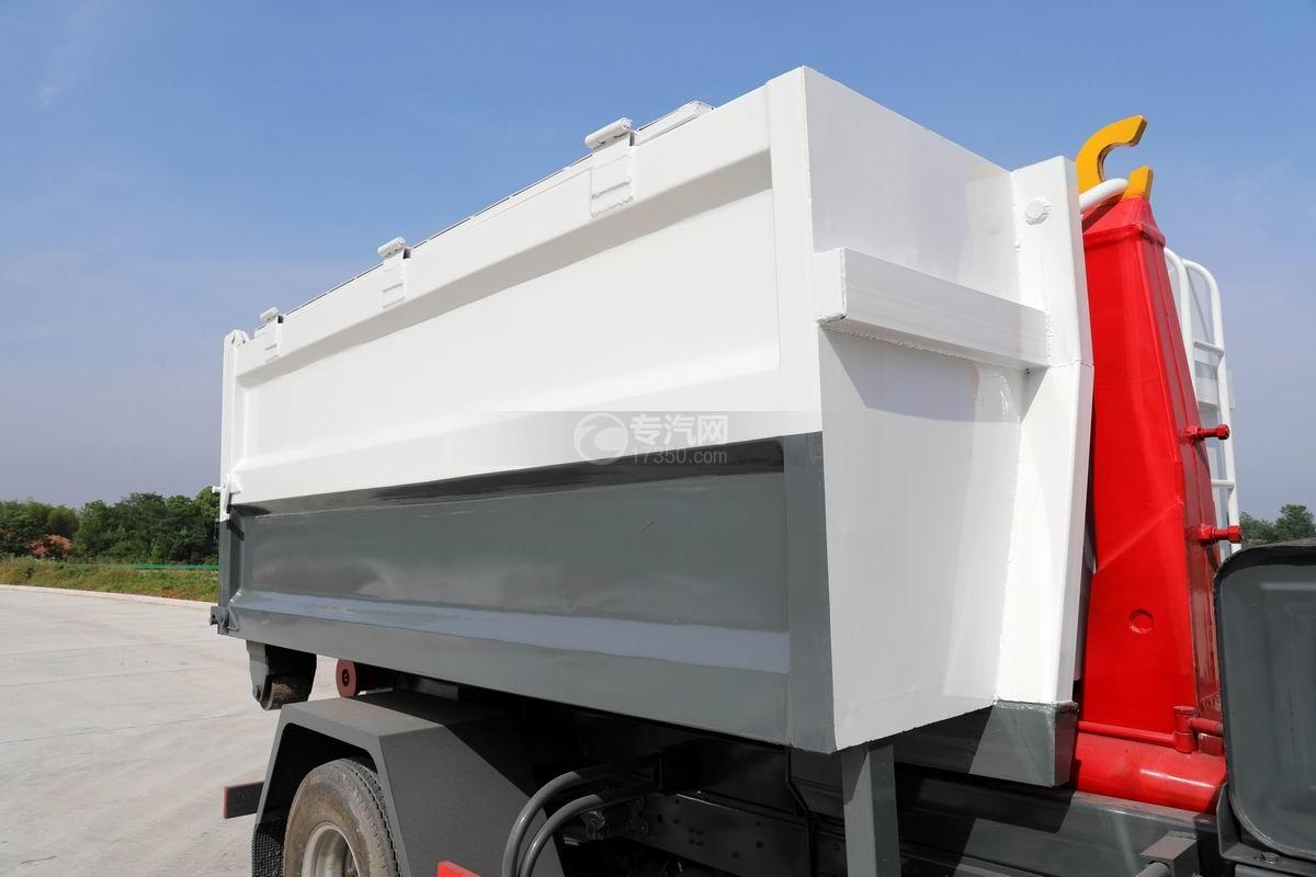 大运新奥普力单排国六车厢可卸式垃圾车上装箱体