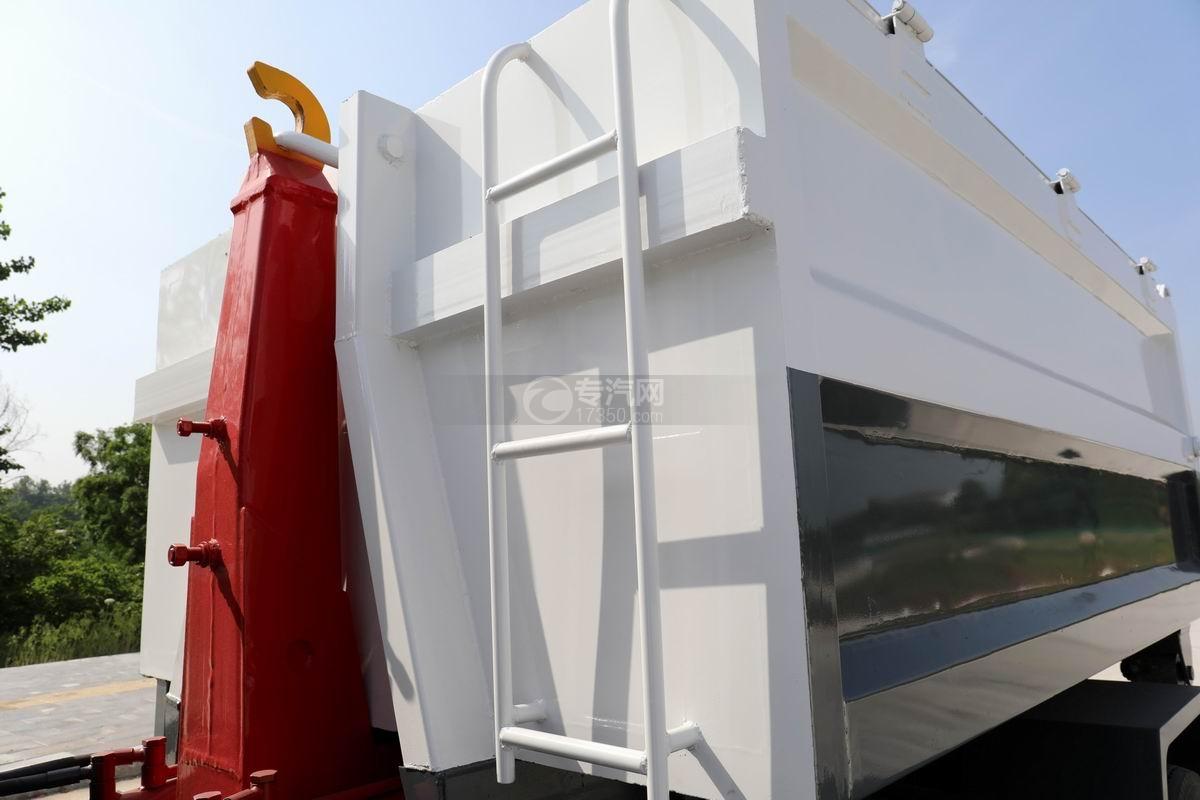 大运新奥普力单排国六车厢可卸式垃圾车爬梯