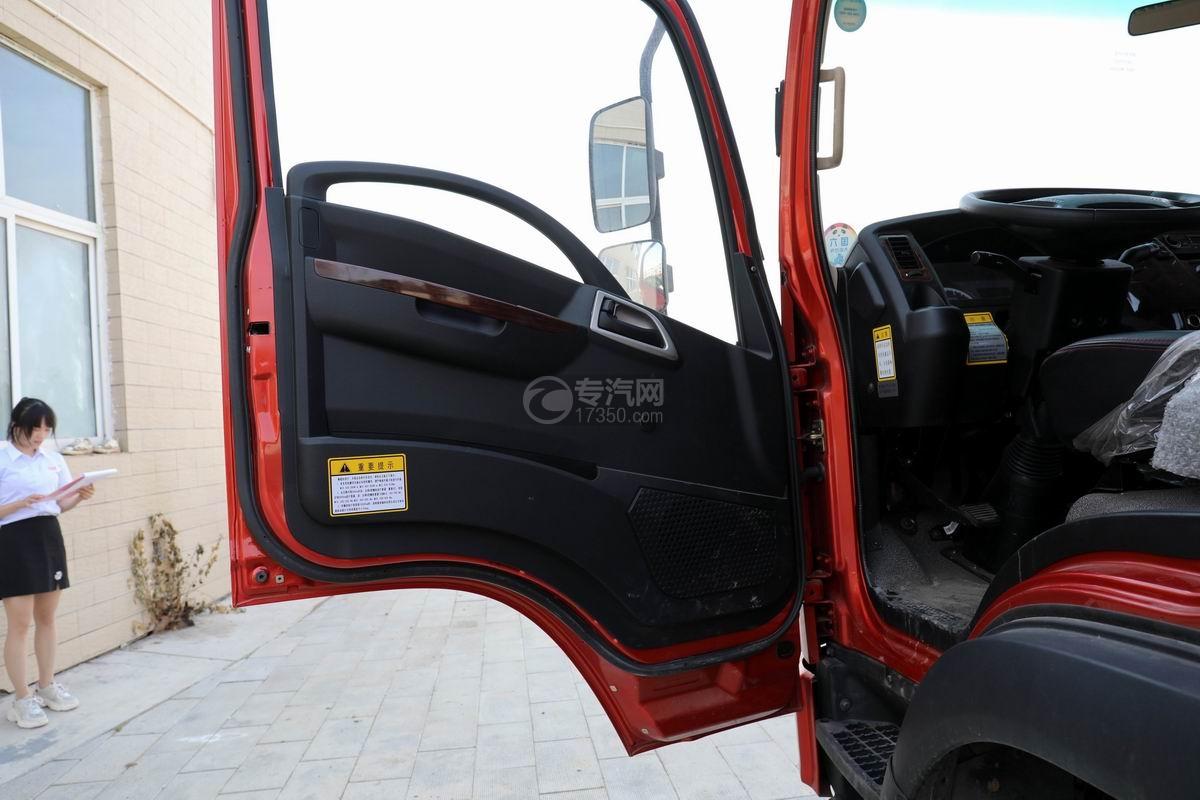 大运新奥普力国六单排平板运输车车门