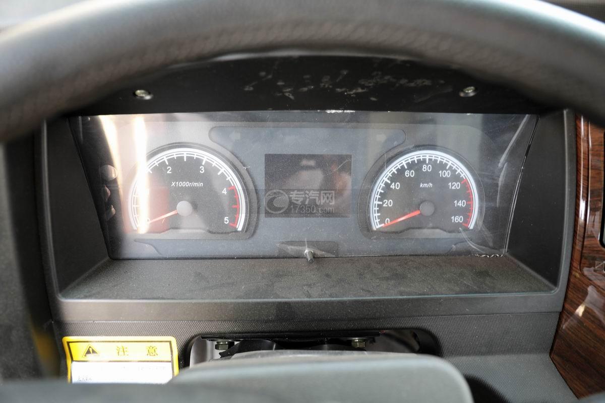 大运新奥普力国六单排平板运输车仪表盘