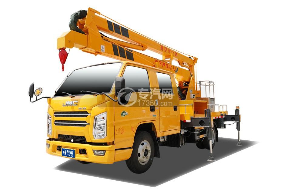 江铃顺达双排国六12米折叠臂式高空作业车