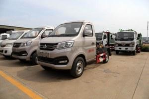 重慶長安跨越國六車廂可卸式垃圾車圖片