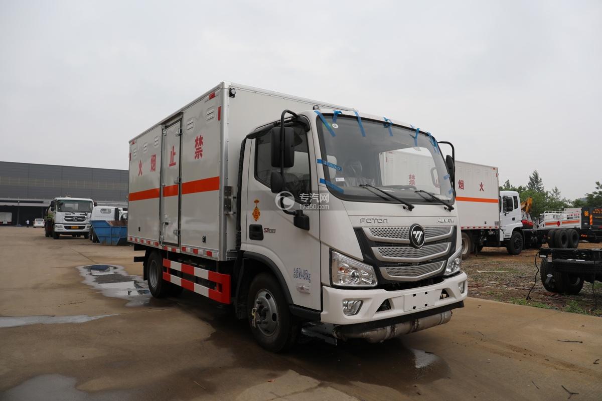 福田欧马可S1国六4.1米易燃液体厢式运输车