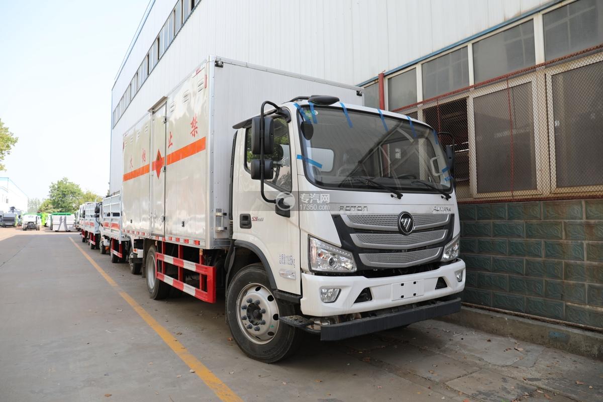 福田欧马可S3国六5.1米易燃气体厢体运输车
