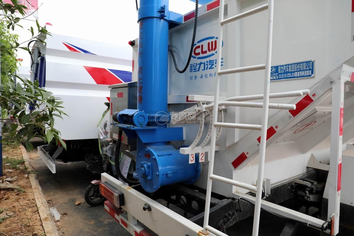 解放J6F单桥国六散装饲料运输车细节
