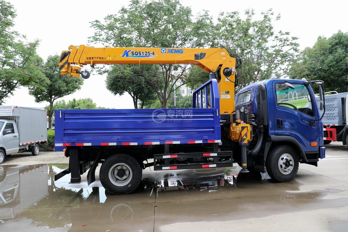 大运奥普力5吨直臂随车吊(蓝色)右侧图