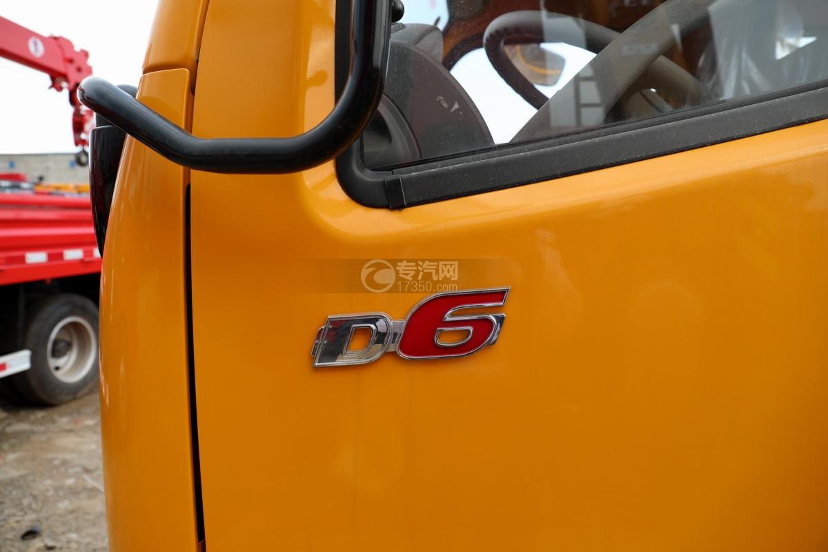 东风多利卡D6双排座直臂随车吊细节