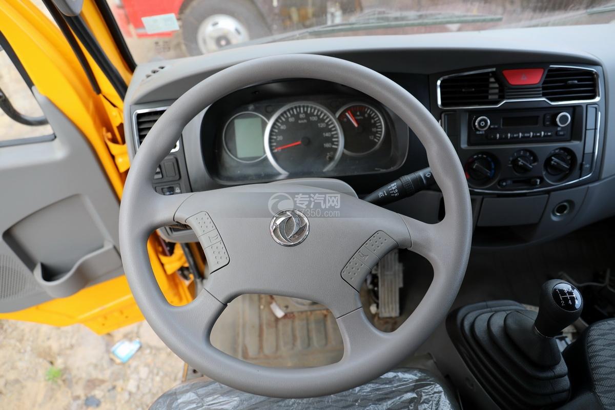 东风多利卡D6双排座直臂随车吊方向盘