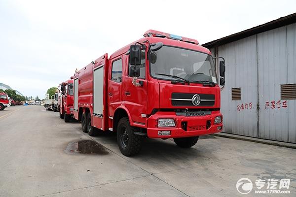 东风天锦六驱水炮联用消防车