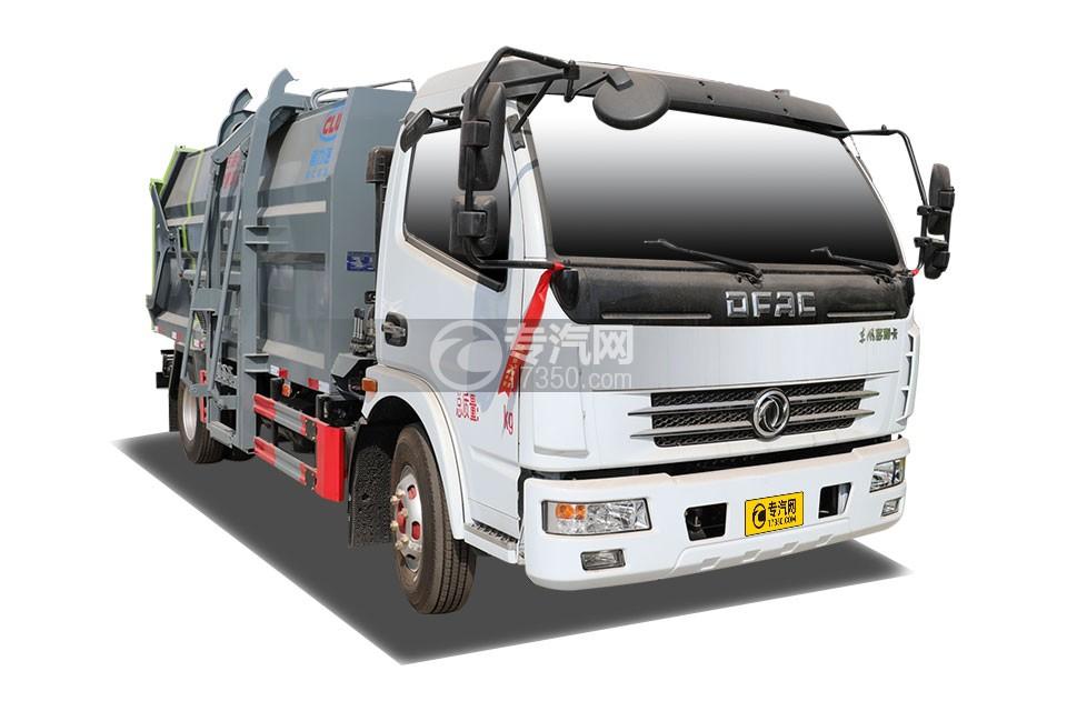 东风多利卡D7压缩对接式垃圾车