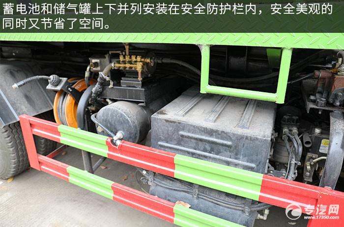 东风拓行D1L天然气餐厨式垃圾车评测蓄电池