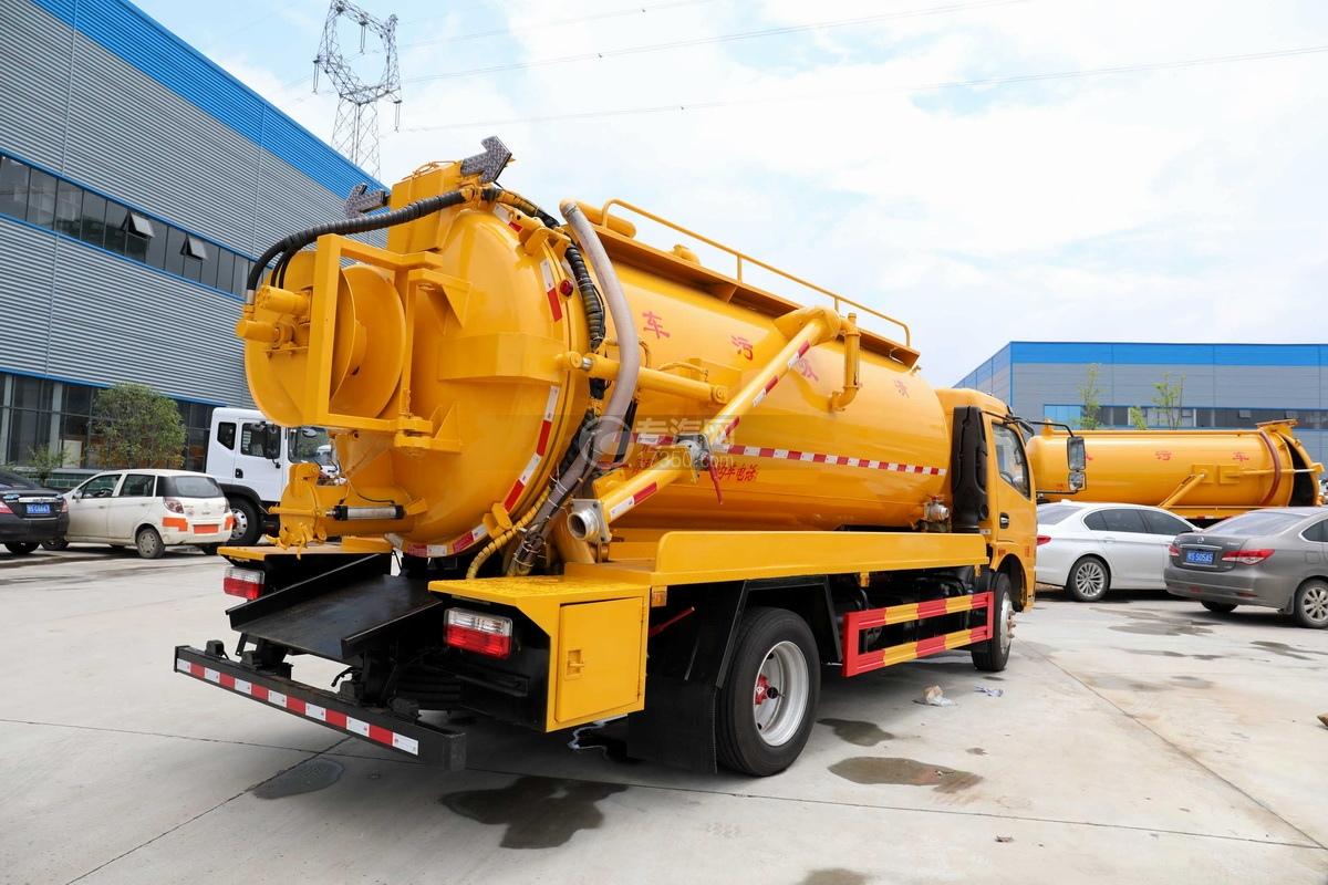 东风多利卡D7国六清洗吸污车(一体式罐体)右后图