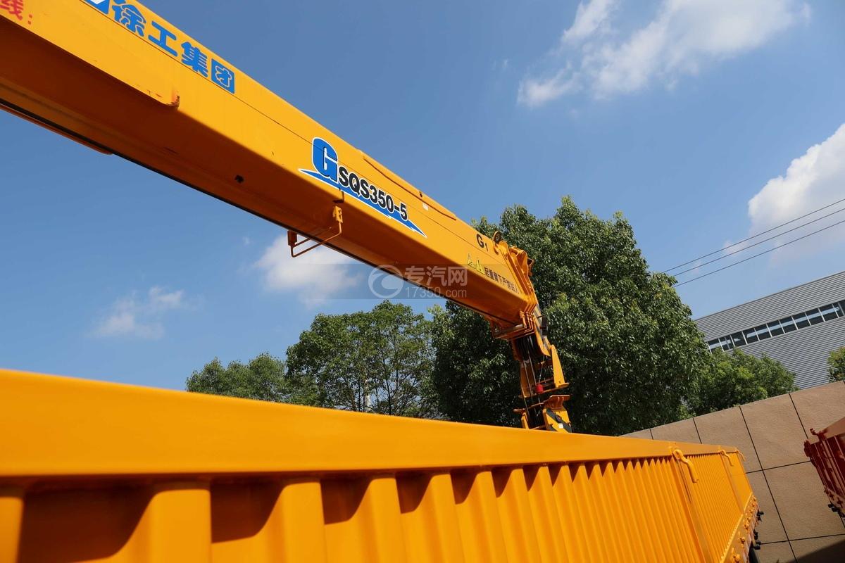 东风柳汽乘龙H5后双桥14吨直臂随车吊吊机细节