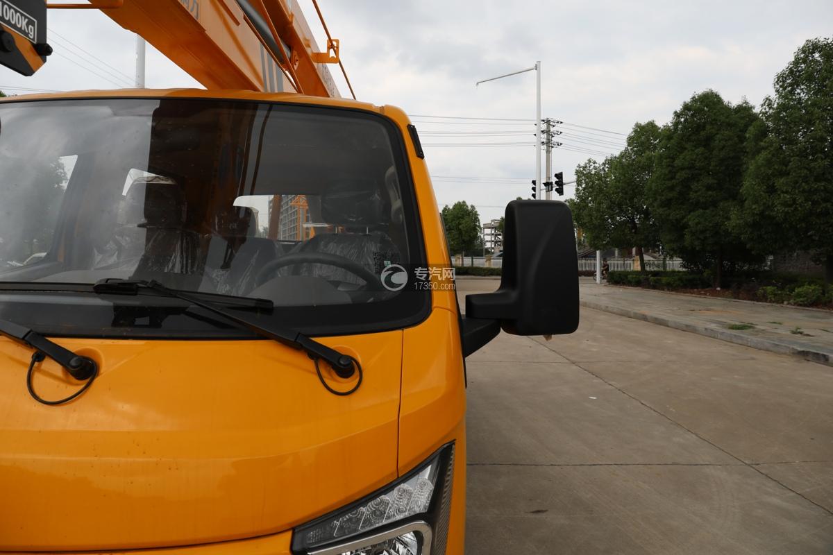 飞碟缔途双排国六13.5米折叠臂式高空作业车左后视镜