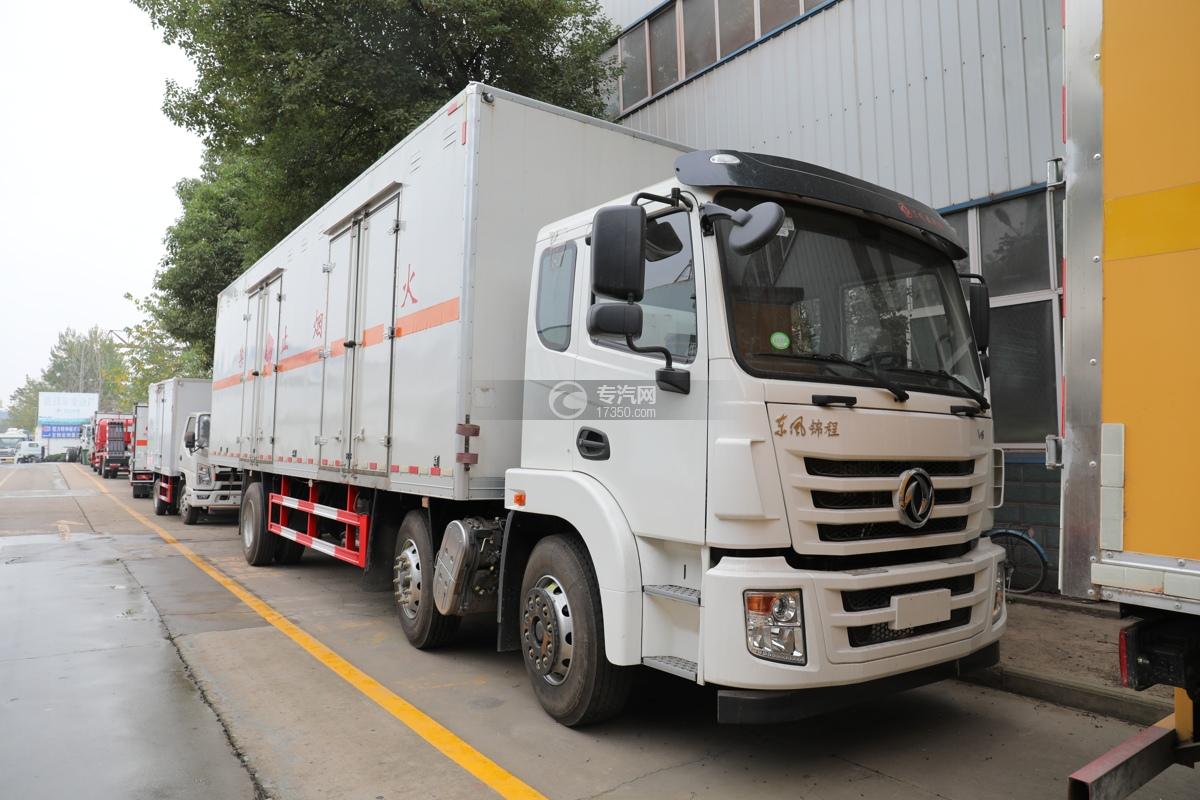 东风锦程V6小三轴国六易燃液体厢式运输车
