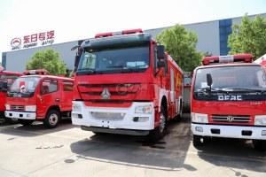 重汽豪沃國五水罐消防車圖片