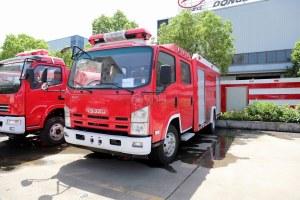 慶鈴五十鈴ELF雙排水罐消防車圖片