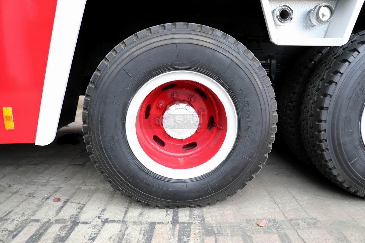 慶鈴五十鈴FVZ后雙橋泡沫消防車輪胎