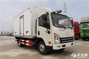 大运奥普力国六4.05米冷藏车展示