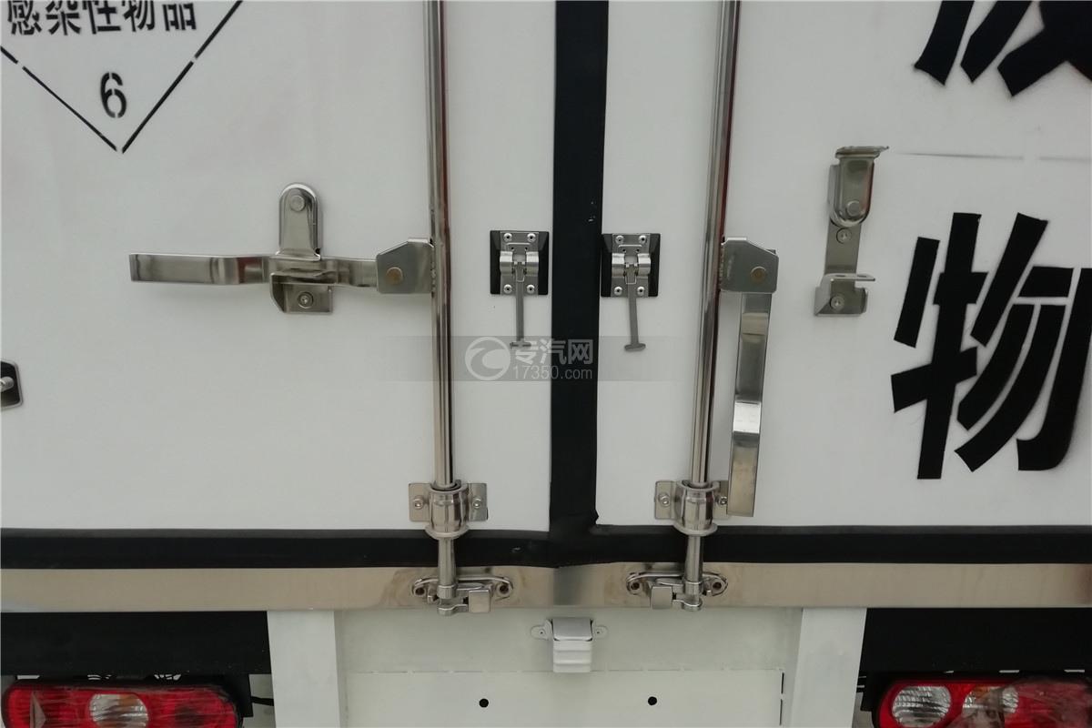 躍進小福星S70國六3.2米醫療廢物轉運車門鎖