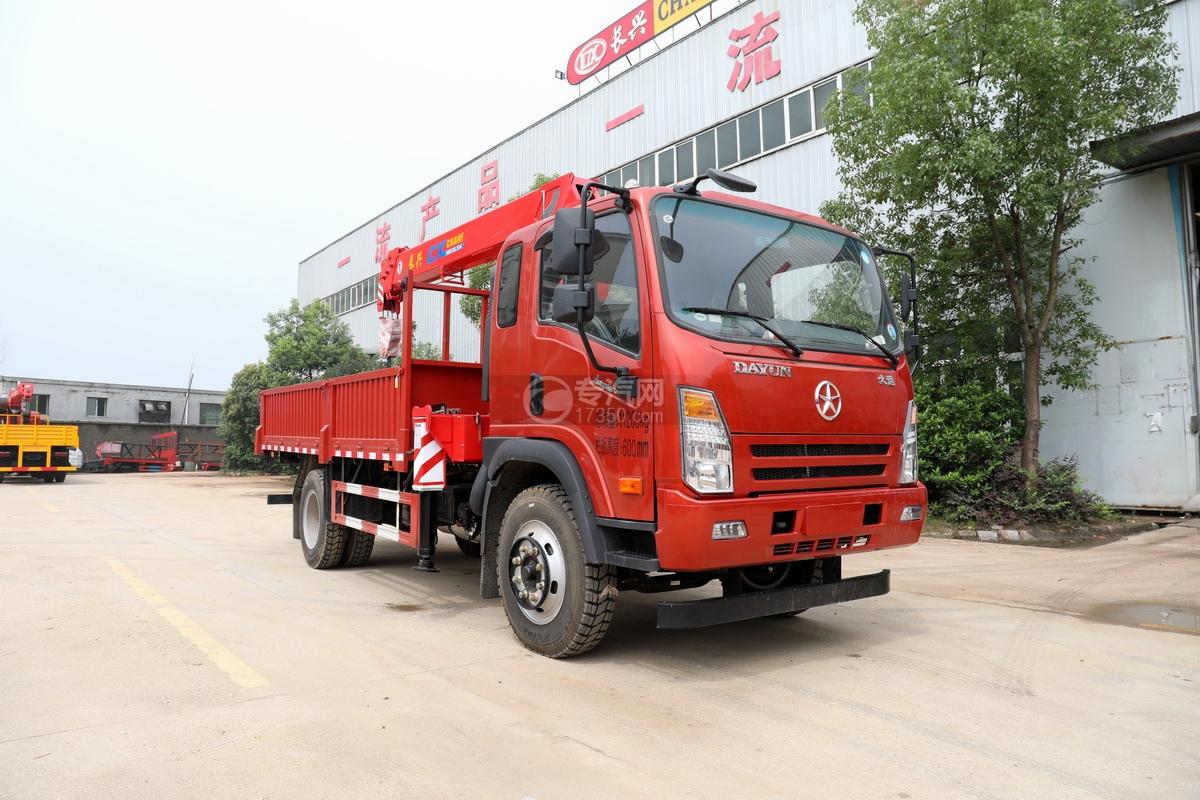 大運奧普力國六4100軸距6.3噸直臂隨車吊