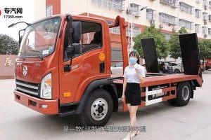 大運國六3.55米軸距清障平板車配置解析