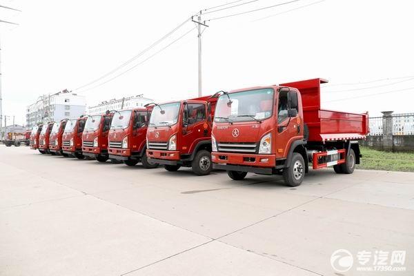 八台大运新奥普力国六自卸式垃圾车