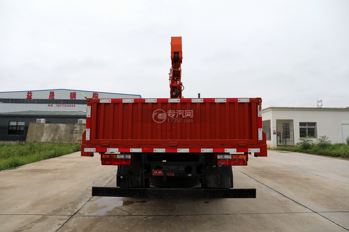 大运新奥普力国六5吨直臂随车吊正后图