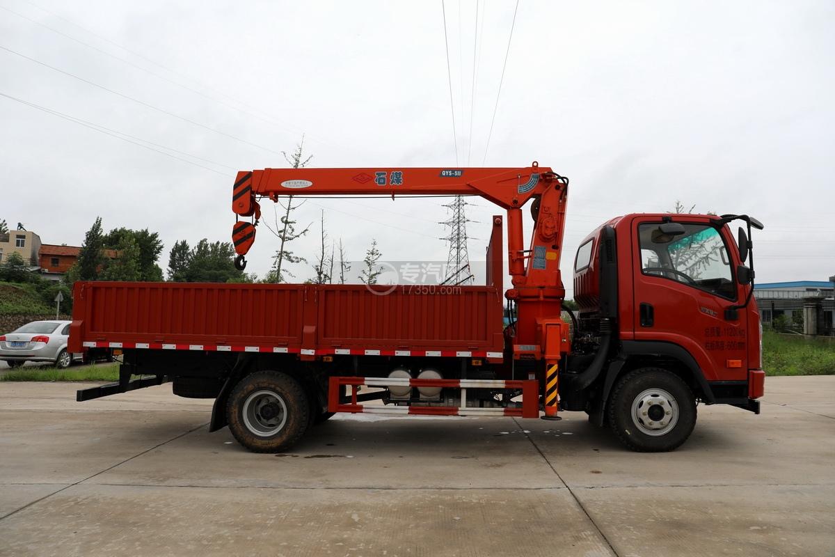 大运新奥普力国六5吨直臂随车吊右侧图