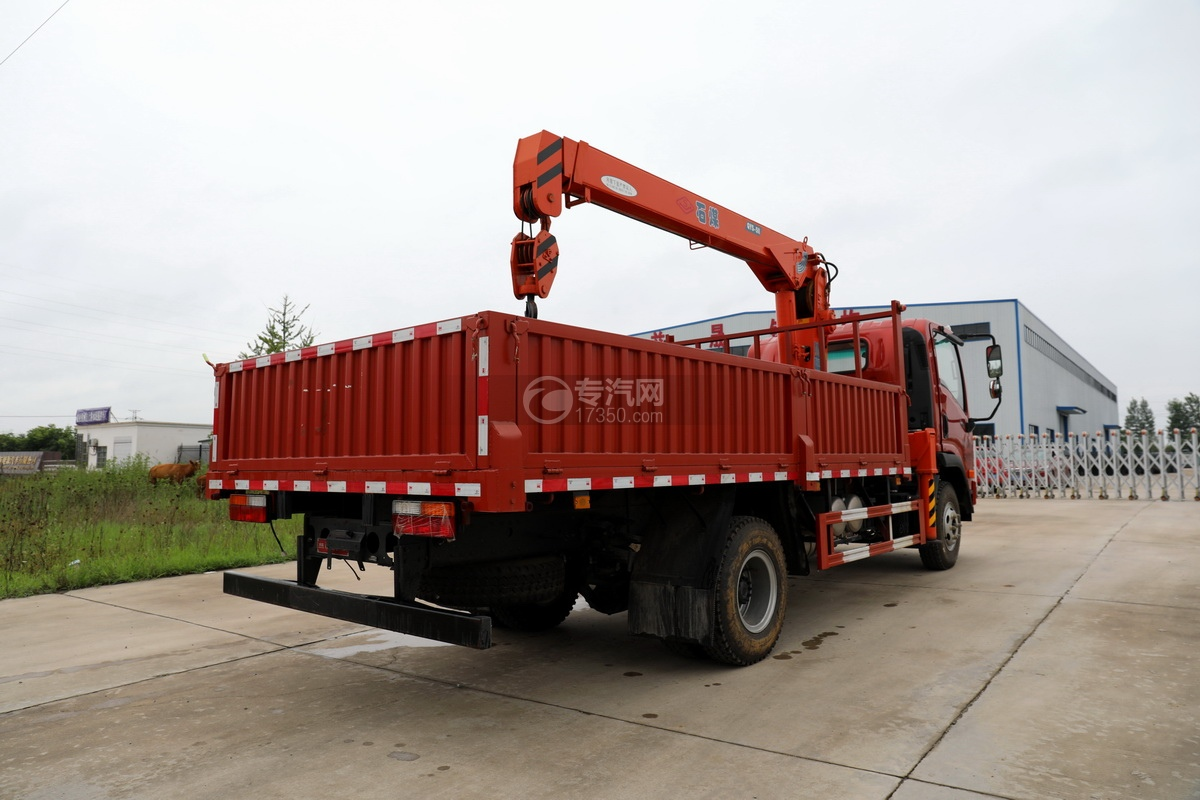 大运新奥普力国六5吨直臂随车吊右后图