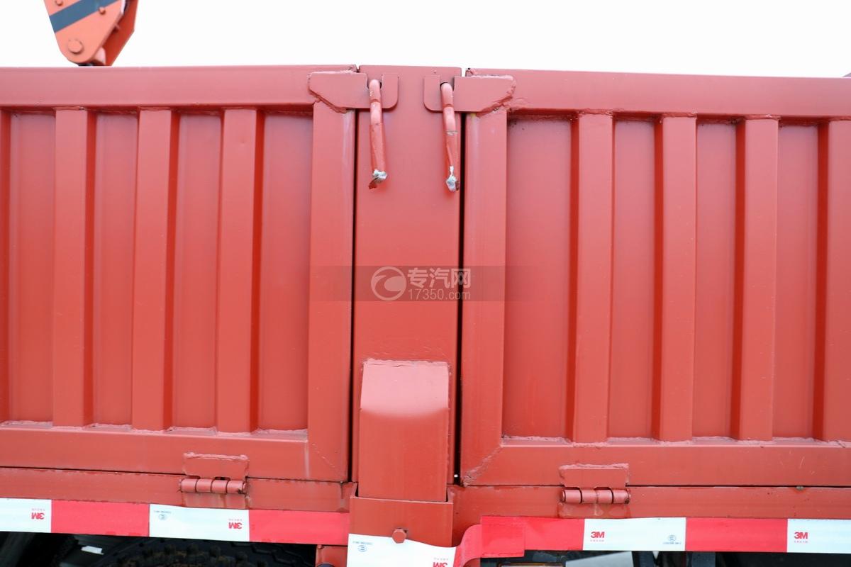 大运新奥普力国六5吨直臂随车吊货箱细节