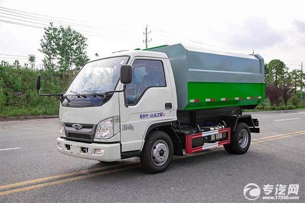 福田時代小卡之星國六自裝卸式垃圾車價格貴不貴?