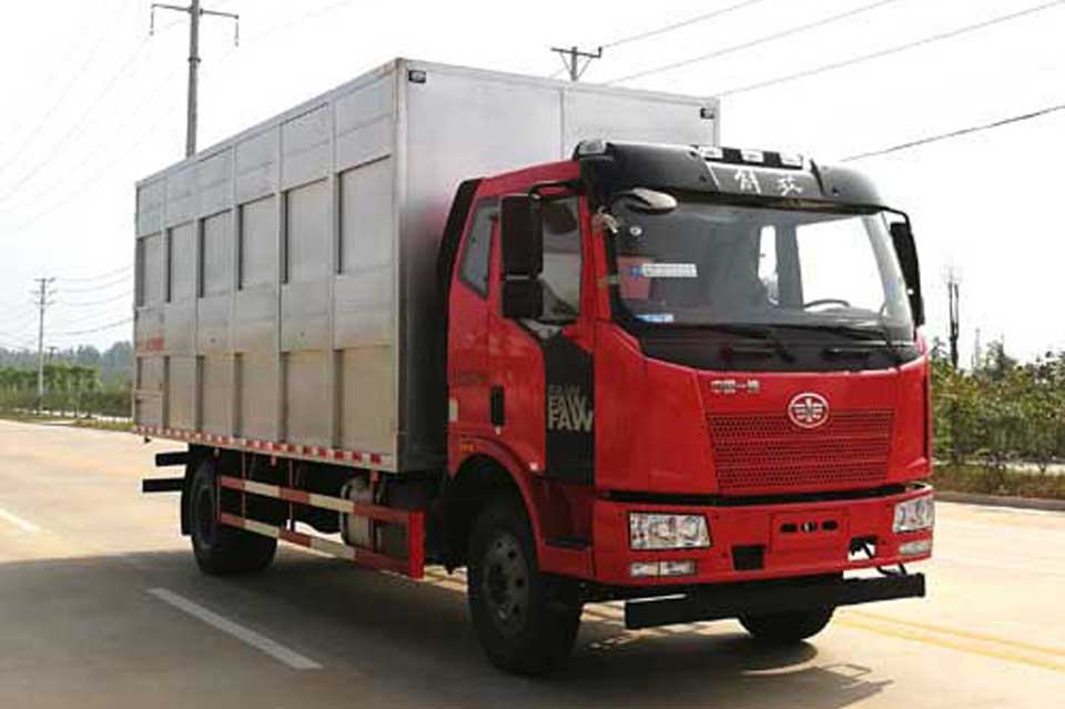 解放J6L单桥国五畜禽运输车