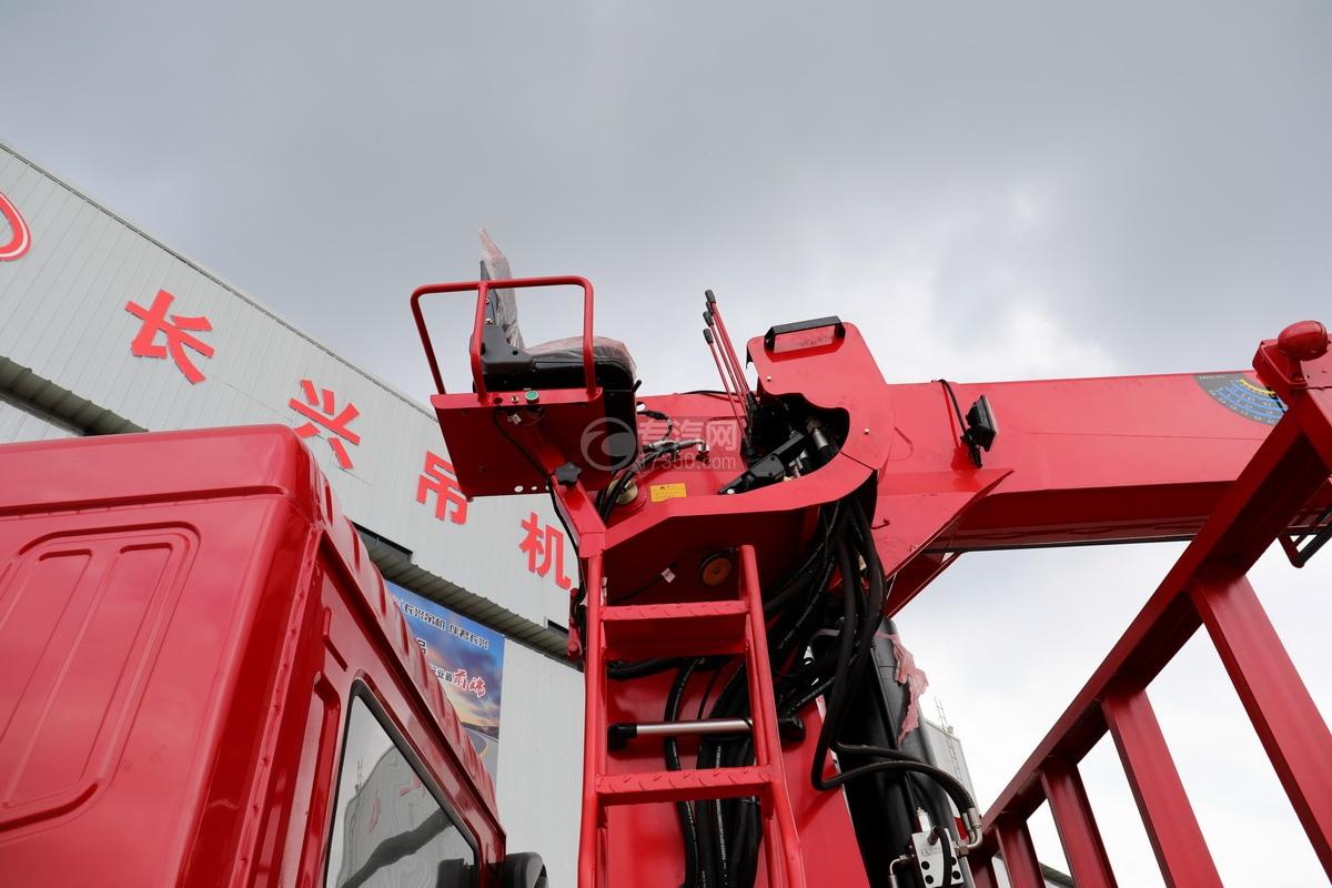 東風華神F5后雙橋12噸直臂隨車吊高空座椅