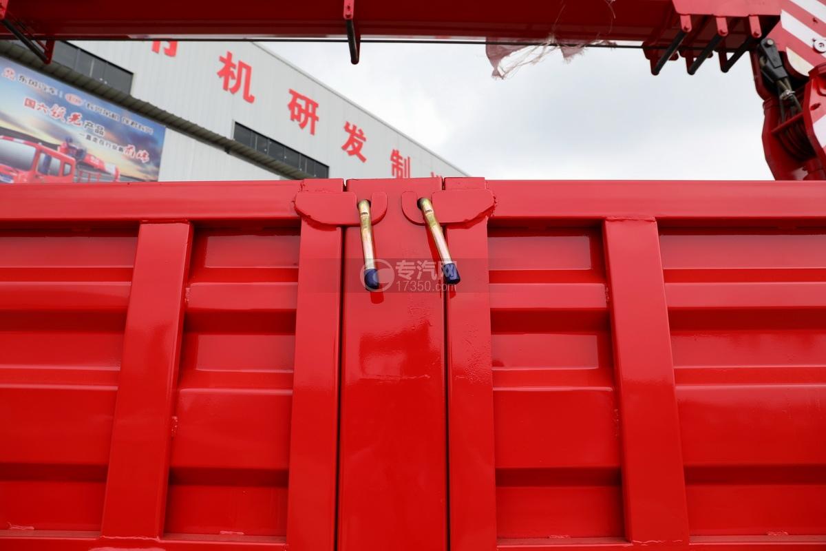 東風華神F5后雙橋12噸直臂隨車吊貨箱細節