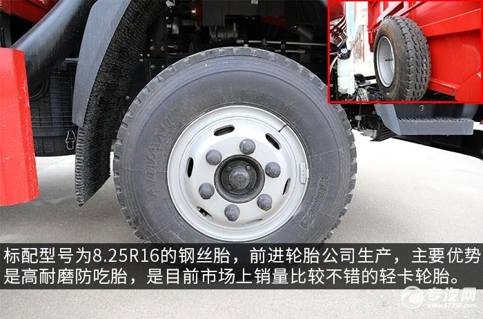 大運新奧普力國六自卸式垃圾車評測輪胎