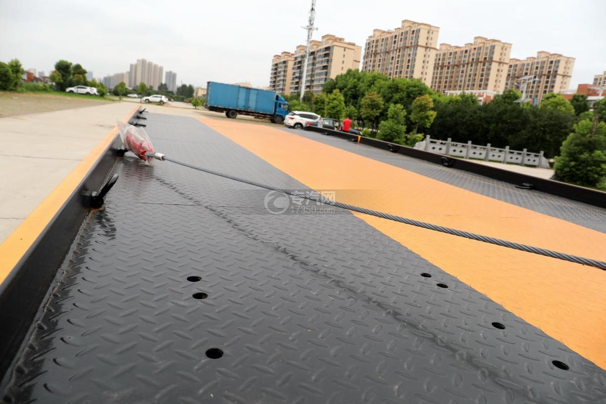 大運奧普力國六4400軸距一拖二清障車板面細節