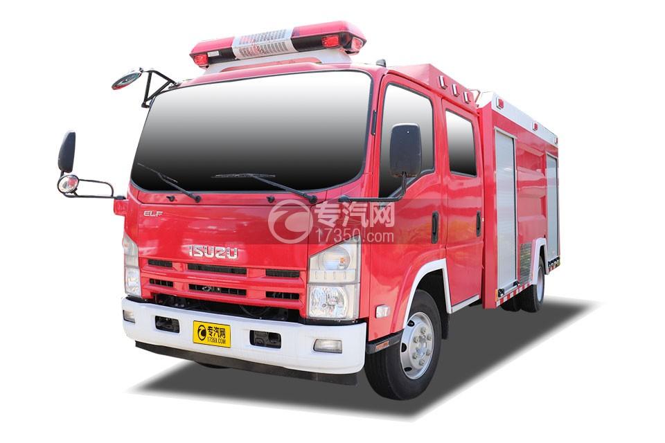 庆铃五十铃ELF双排水罐消防车