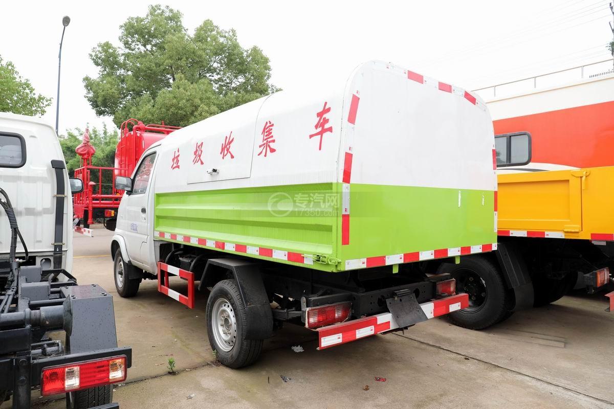 北汽昌河自卸式垃圾車側后方圖