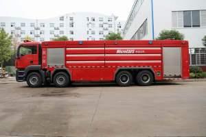 讓您見識一下水罐消防車消防大炮的威力